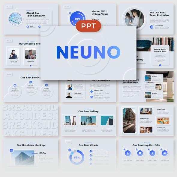 Neuno - Neumorphic Business PowerPoint Template