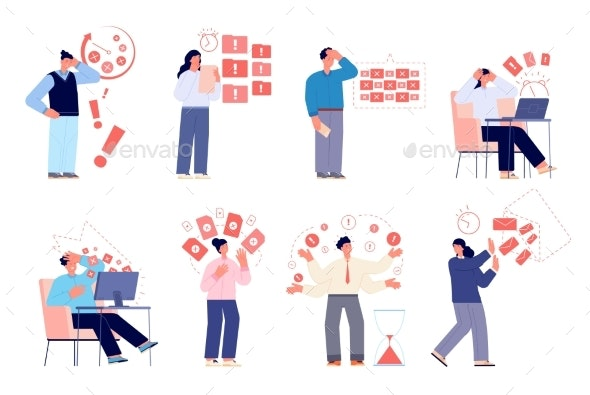Work Deadline - People Characters