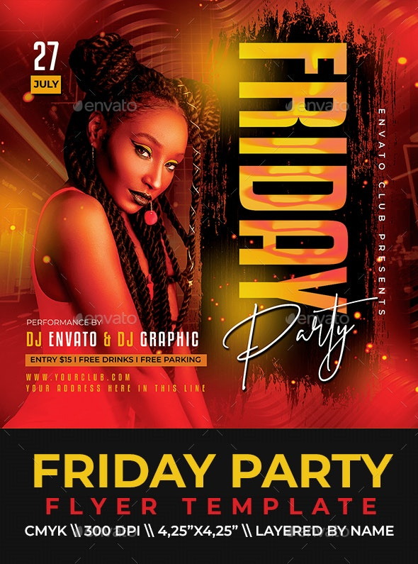Friday Party Flyer - Clubs & Parties Events