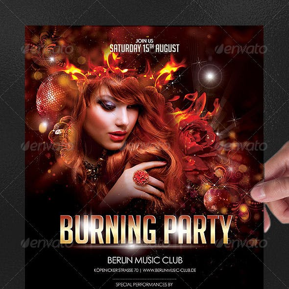 Burning Party Poster/Flyer