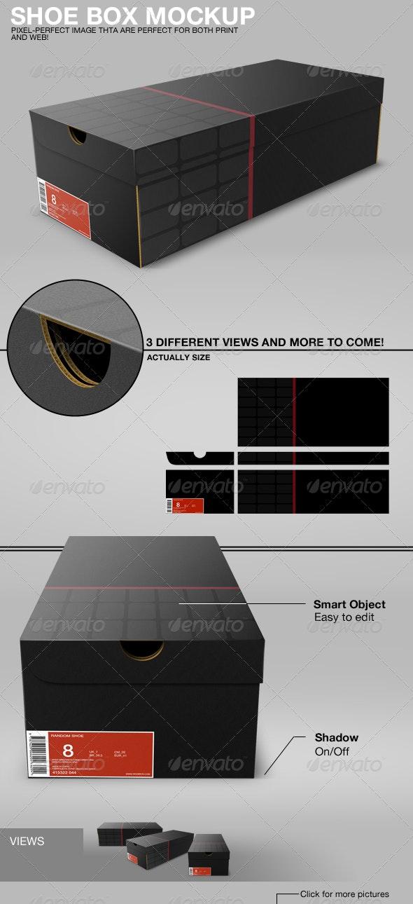 Shoe Box Mockup - Miscellaneous Packaging