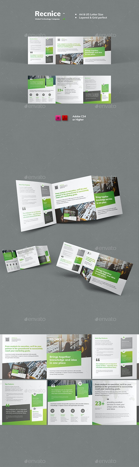 Trifold Square Brochure Template - Brochures Print Templates