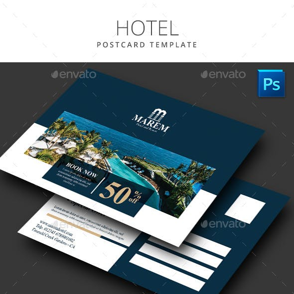 Hotel Postcard Template