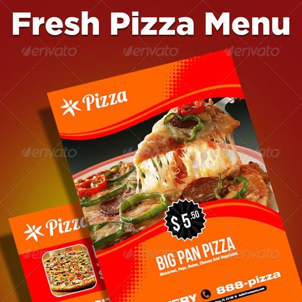 Fresh Pizza Menu