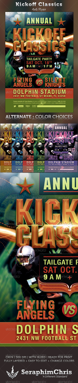 Kickoff Classics Football Flyer Template - Sports Events