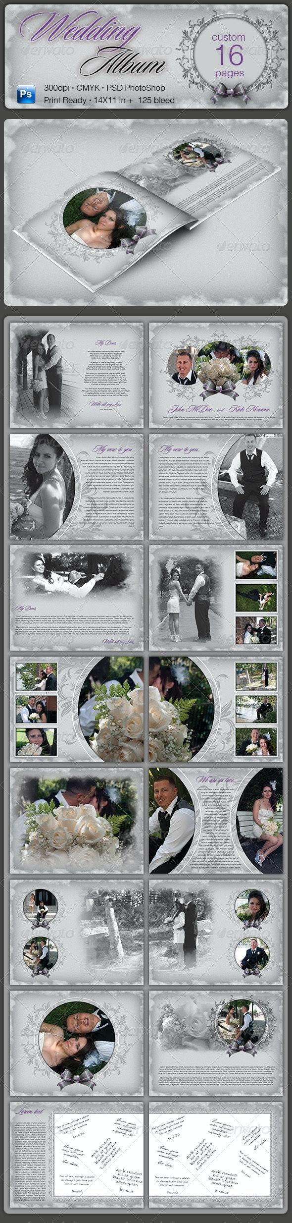 Wedding Album - Photo Albums Print Templates