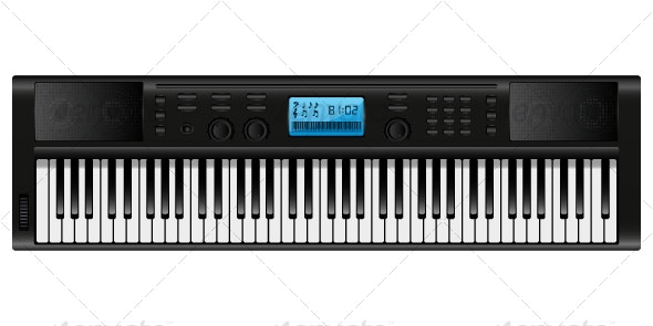 Electronic piano - Objects Vectors
