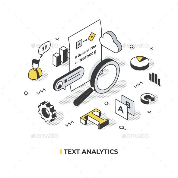 Text Analytics Isometric Concept