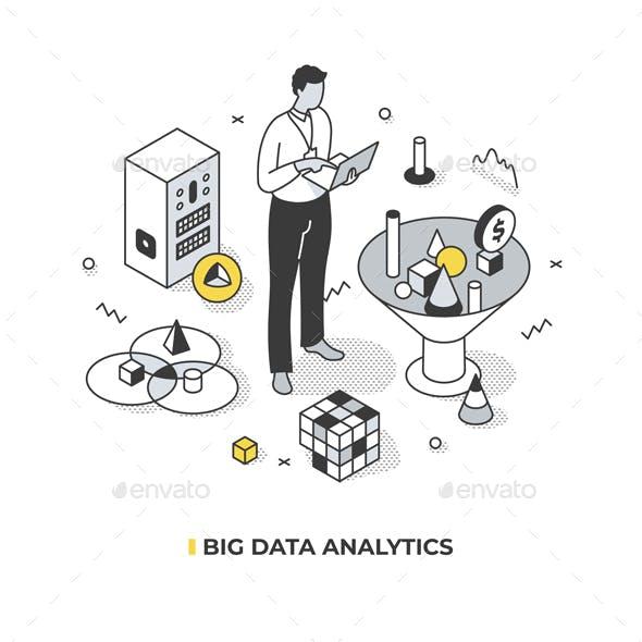 Big Data Analytics Isometric Concept
