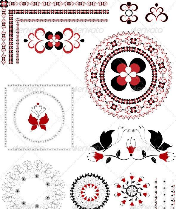 Variegated  Ornament Border - Borders Decorative