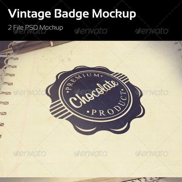 Vinatge Badge Mockup