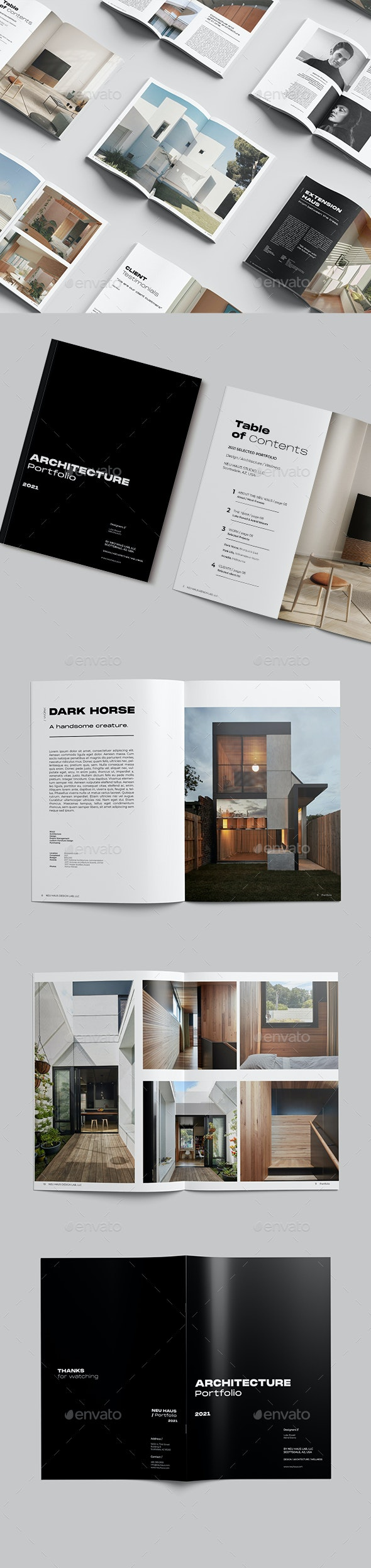 Architecture Portfolio Brochure - Portfolio Brochures