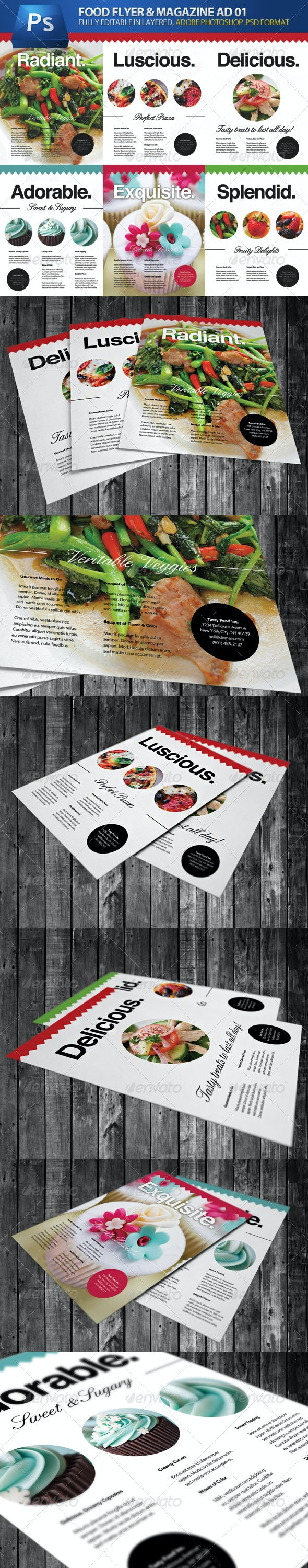 Food & Cooking Flyer & Magazine Adverts - Restaurant Flyers