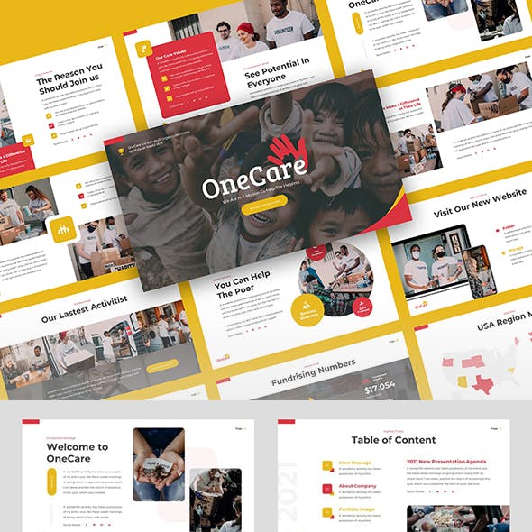 OneCare - Nonprofit Charity Powerpoint Template