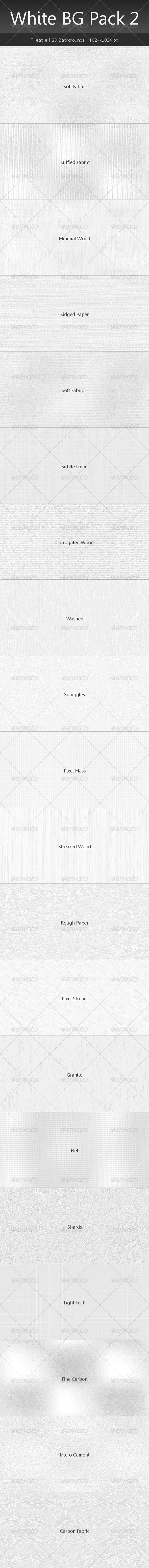 Tileable White Background Pack 2 - Patterns Backgrounds