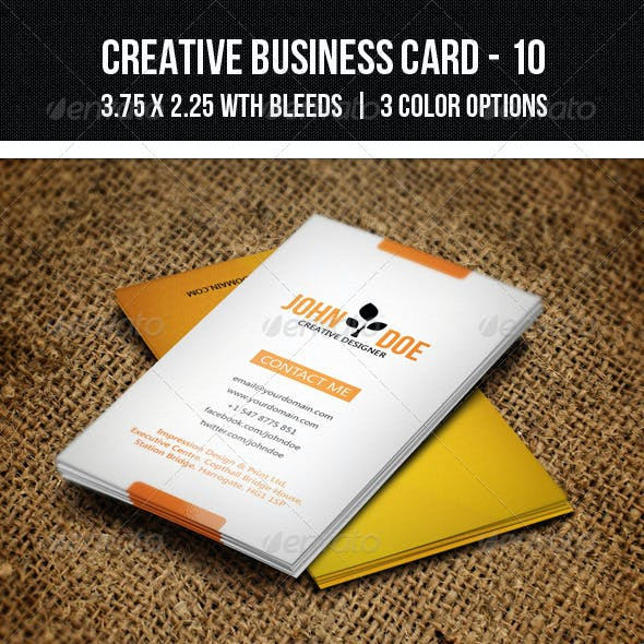 Creative Business Card - 10