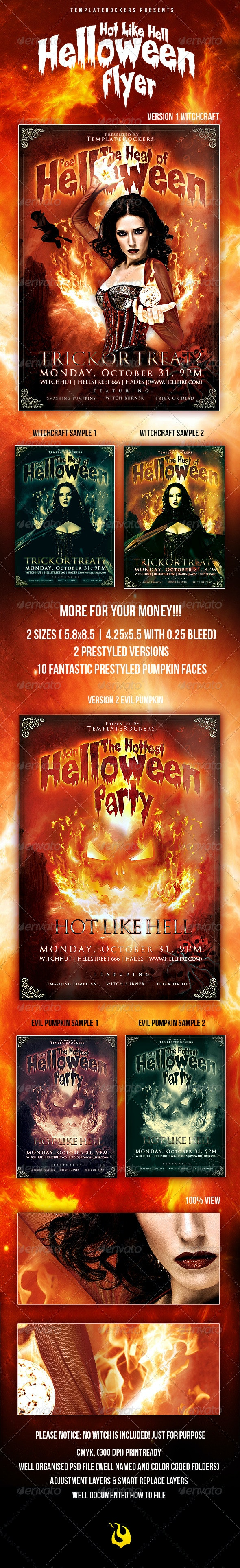 Hot Halloween Flyer - Clubs & Parties Events