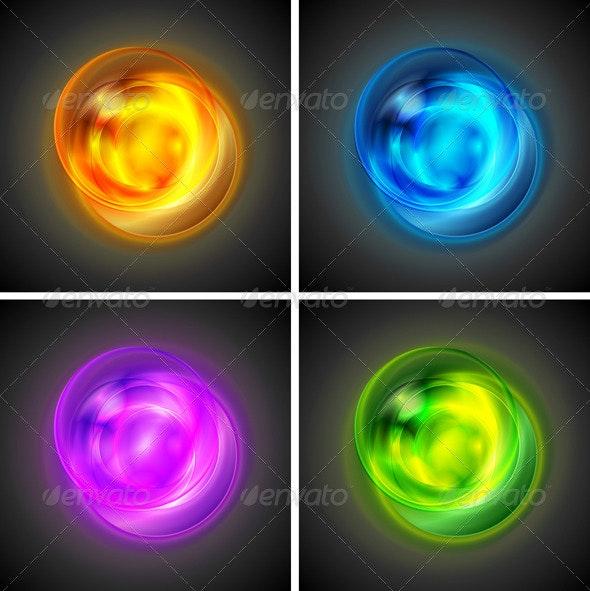 Bright vector shapes - Abstract Conceptual