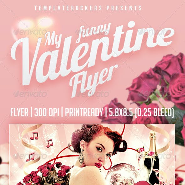My Funny Valentine Flyer | 3 Colors Versions