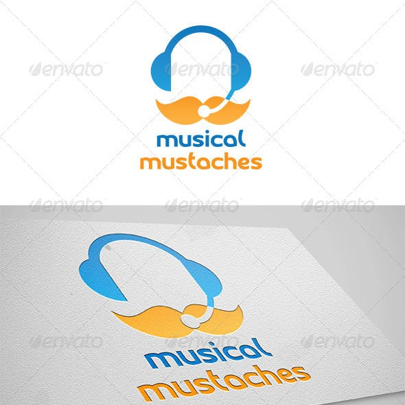 Mustaches Musical Logo