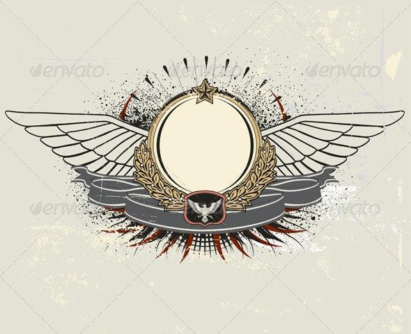 Heraldic shield - Decorative Vectors