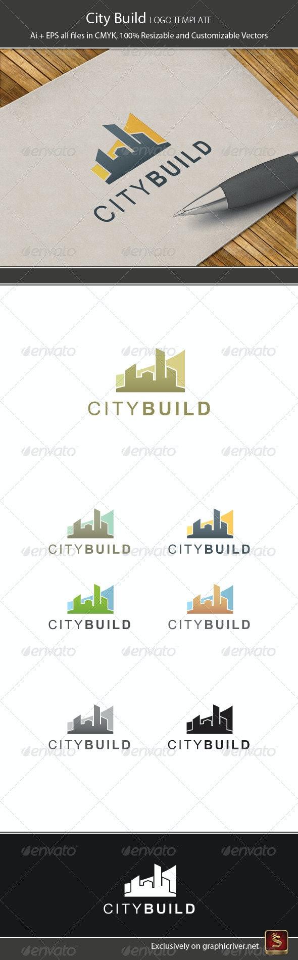 City Build Logo Temlate - Buildings Logo Templates