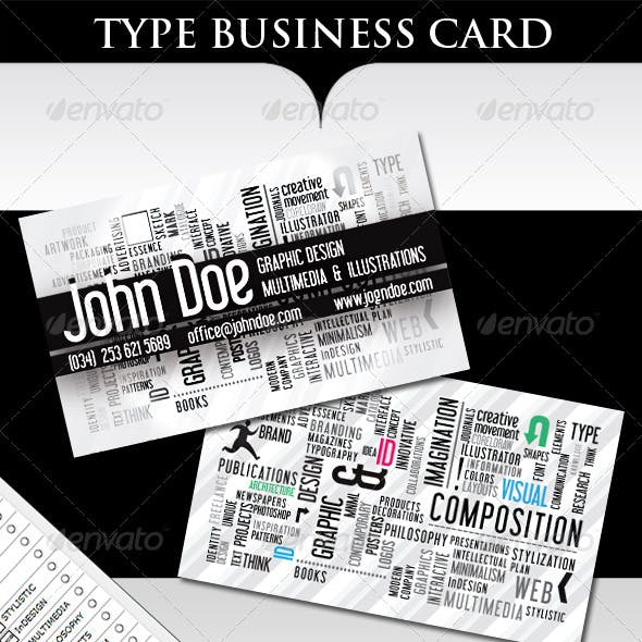 Type Business Card