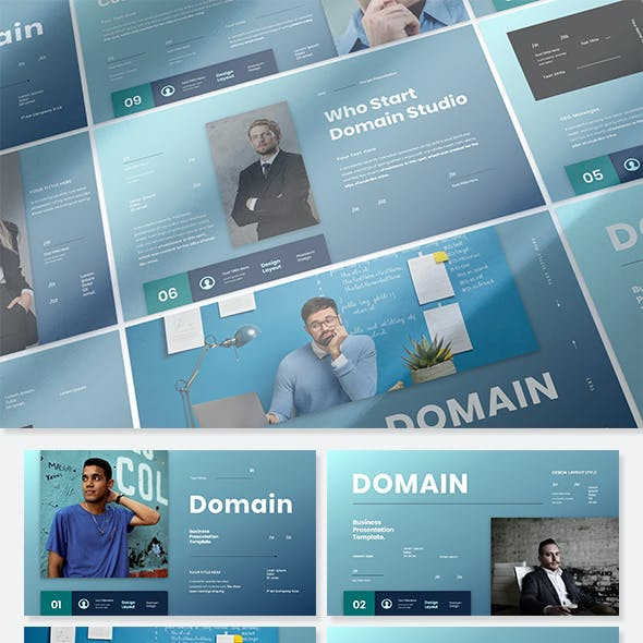 Domain - Business Presentation PowerPoint Template