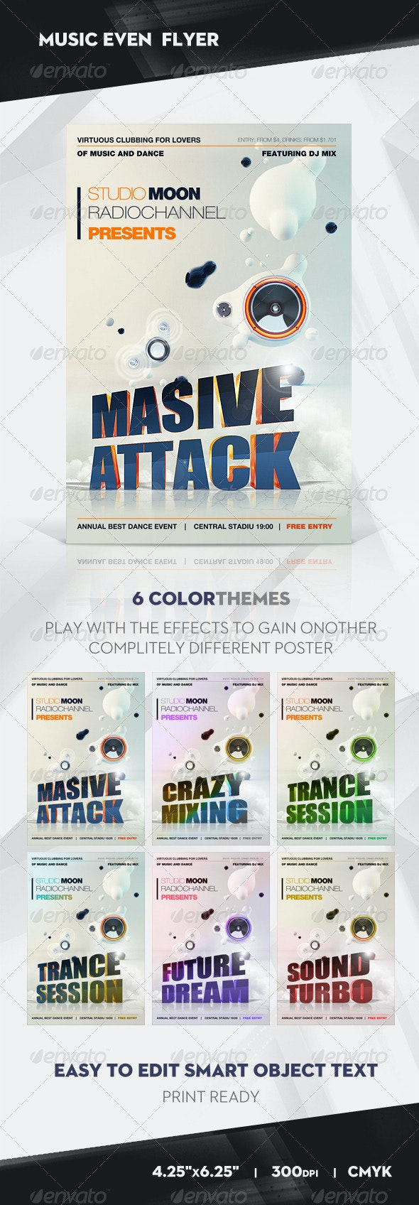 MASIVE ATTACK Party Flyer / Poster - Clubs & Parties Events