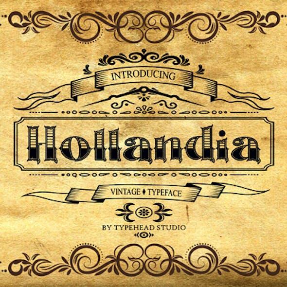 Hollandia Vintage Font