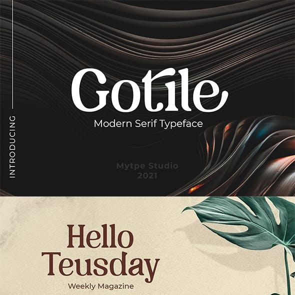 Gotile - Sertif Typeface