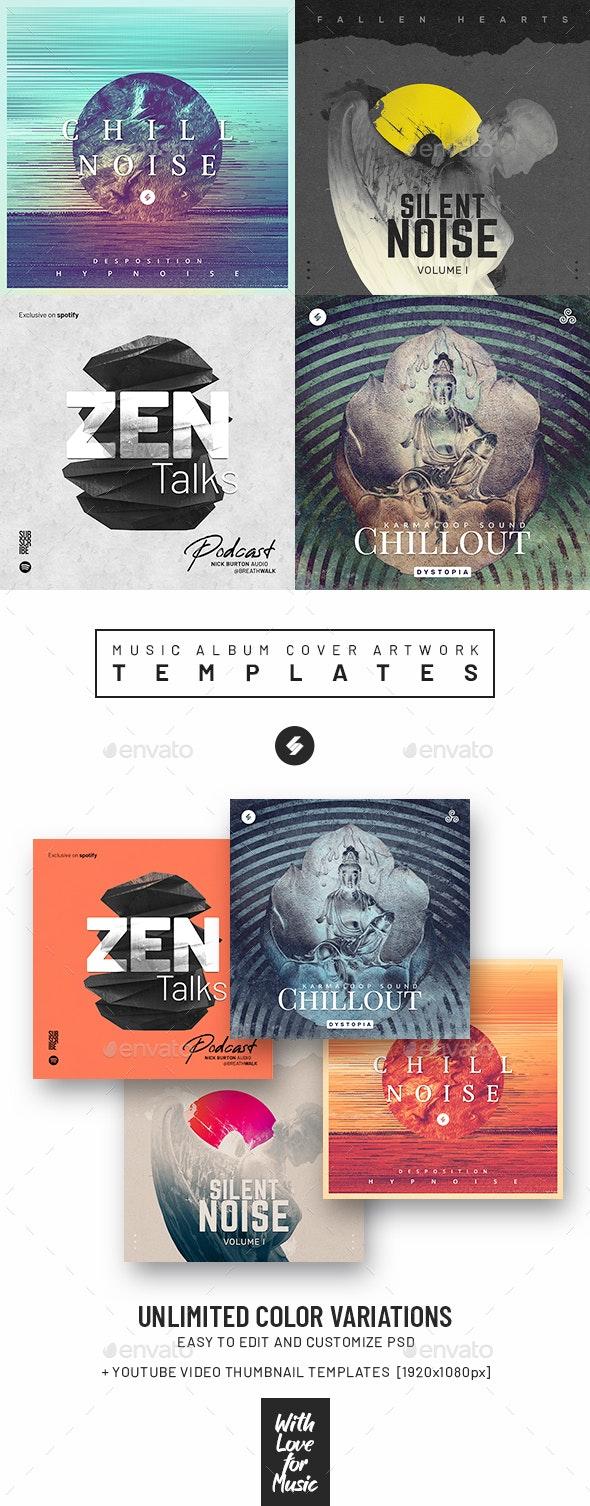 Music Album Cover Artwork Templates Bundle 70 - Miscellaneous Social Media