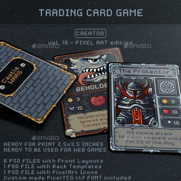 Trading Card Game Creator - Vol 18 - Pixel Art