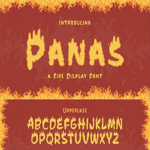 Panas – Fire Display Font