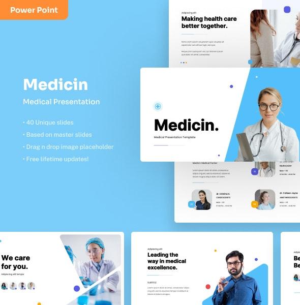 Medicin - Medical PowerPoint Presentation - Business PowerPoint Templates