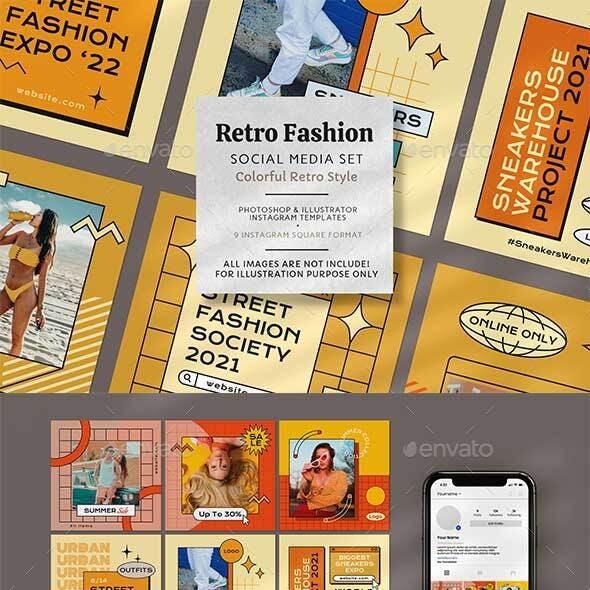 Colorful Retro Fashion Instagram