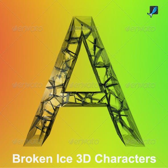Broken Ice 3D Characters