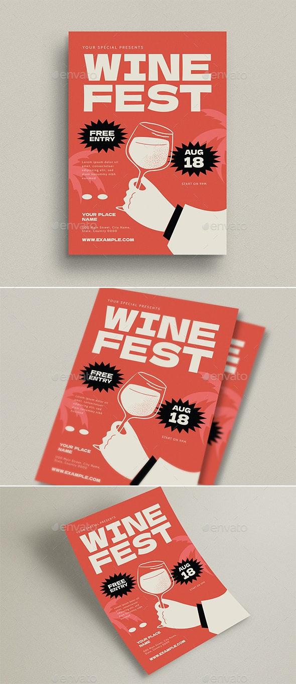 Wine Fest Event Flyer - Flyers Print Templates