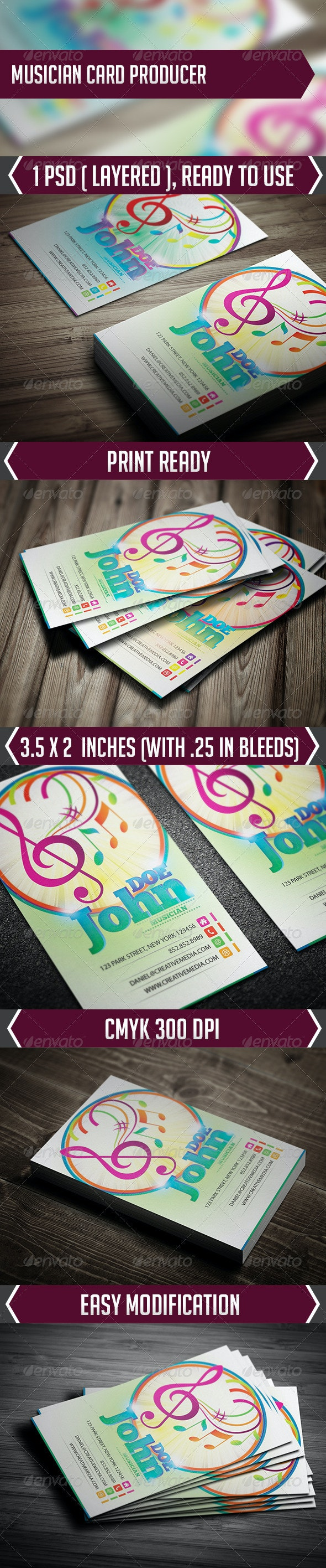 Musician Card Producer - Creative Business Cards