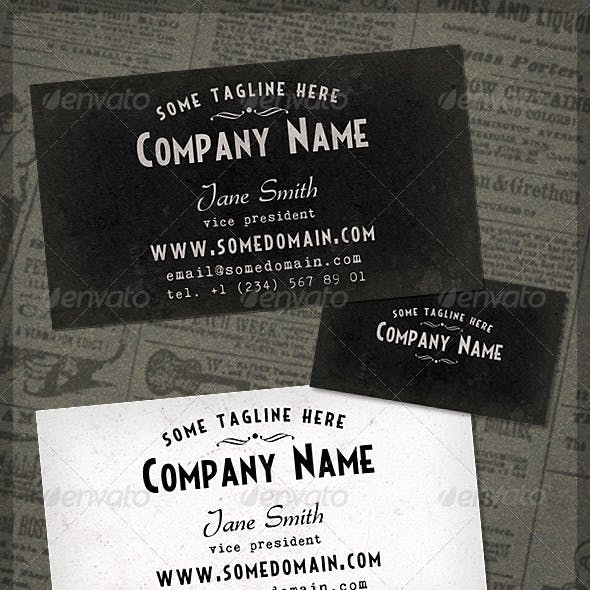 French Typography Business Card