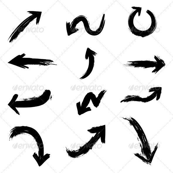 Ink Arrows - Web Elements Vectors