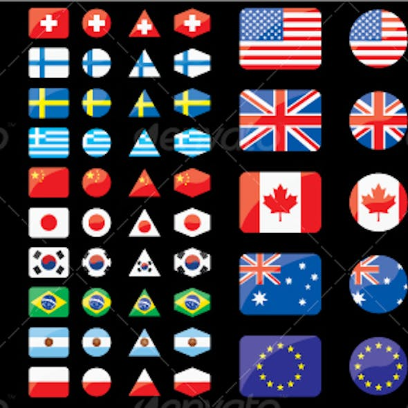 Shaped flags