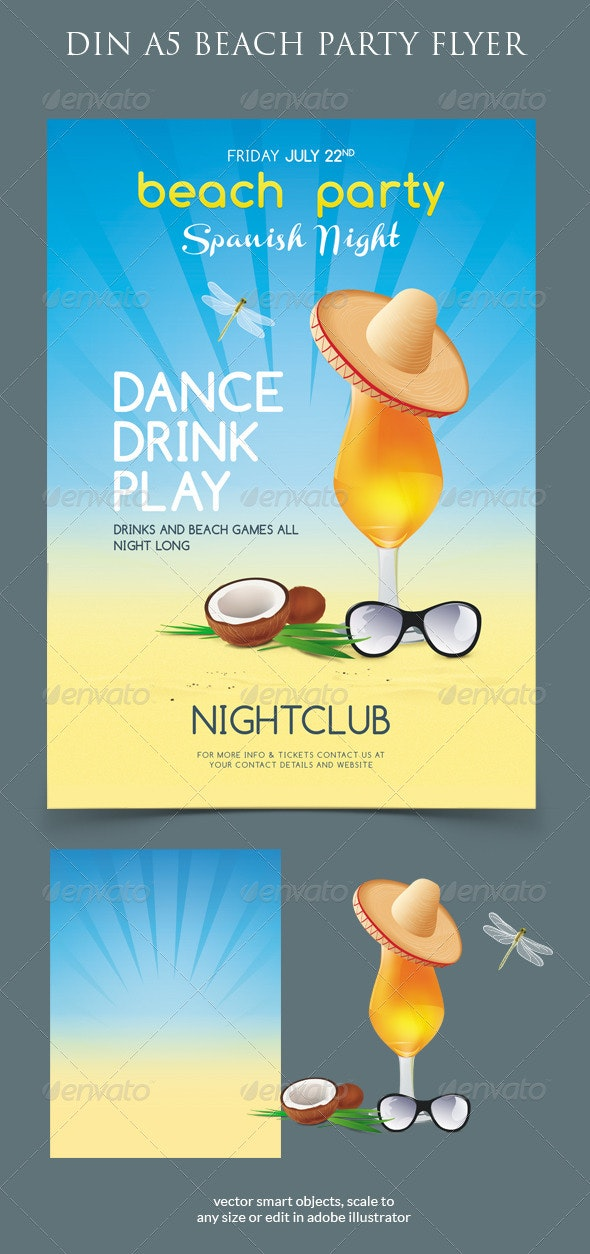 Beach Summer Party Flyer - Clubs & Parties Events