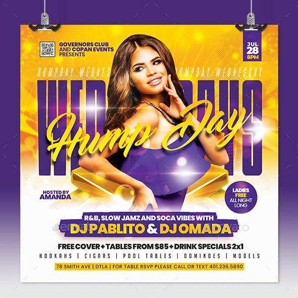 Hump Day Wednesdays Flyer