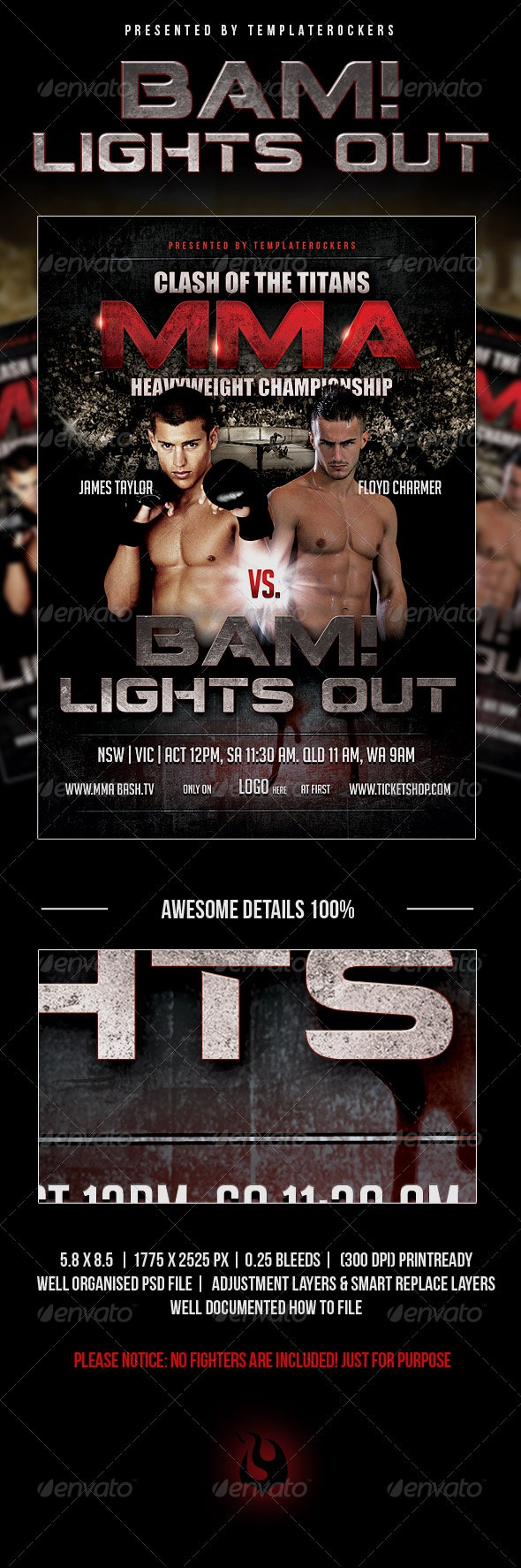 BAM! Lights Out Flyer - Clubs & Parties Events
