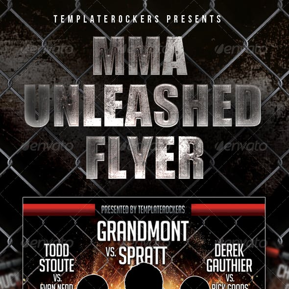 MMA Unleashed Flyer - 2 Versions