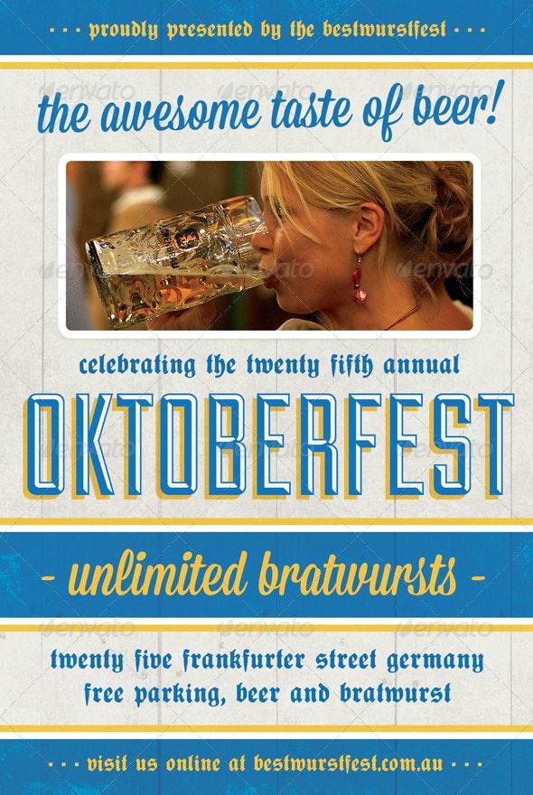 Beer Festival - Oktoberfest Flyer Template - Holidays Events