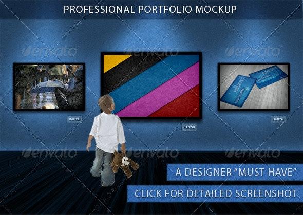 Professional Portfolio Mockup - Miscellaneous Displays