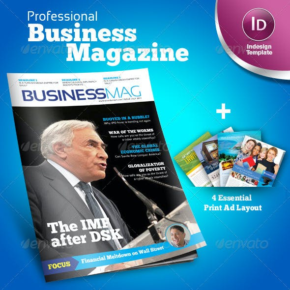 Profesional Business Magazine Indesign template