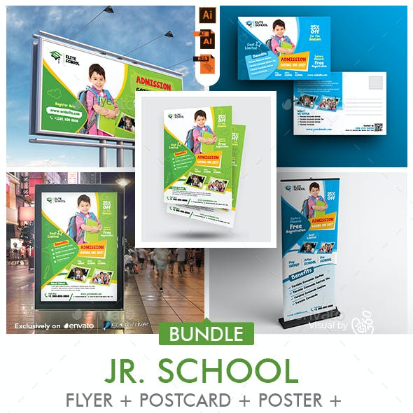 School Promotional Print Template Bundle